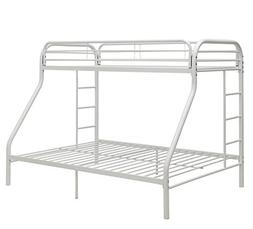 ACME Furniture 02052WH Tritan Bunk Bed, White, Twin XL over