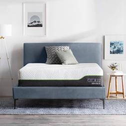 LUCID 12 inch Innerspring and Memory Foam Hybrid Mattress -