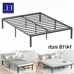 14/18'' Twin Queen King Size Metal Bed Frame Platform Bed Ma