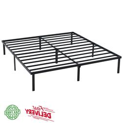 14 Inch Heavy Duty Slat Bed Frame, Multiple Size Metal Platf