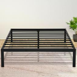SLEEPLACE 14 Inch Metal Bed Frames Easy Assembly Black Twin
