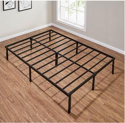 14 inch Tall Metal Platform Bed Frame Steel Slat Queen Full