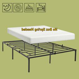 """14 """" Queen/ Full/ Twin Multi Size Iron Bed Frame Platform"""