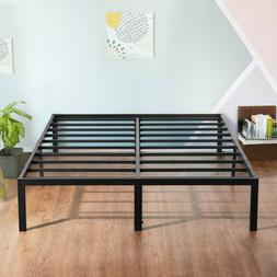 "SLEEPLACE 18"" Tall Metal Slat Platform Foundation Bed Frame"