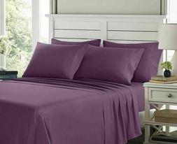 6 Piece Egyptian Comfort 1800 Thread Count Deep Pocket Bed S