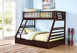 1PerfectChoice Jason Youth Kid Bedroom Twin XL over Queen Bu