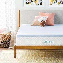 Linenspa 2 Inch Gel Infused Memory Foam Mattress Topper - Tw