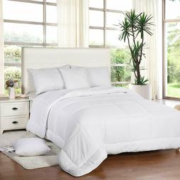 All Season Down Comforter Quilted Duvet Insert Box Style 250