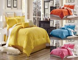 3PC GEOMETRIC/SOLID DUVET COVER SET FOR COMFORTER BED SOFTES