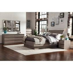 4 pc queen bed furniture set distressed