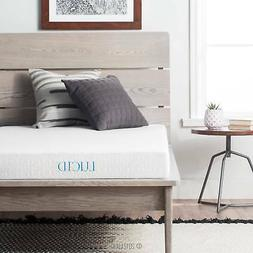 "Lucid 5"" Gel Memory Foam Mattress, Multiple Sizes"