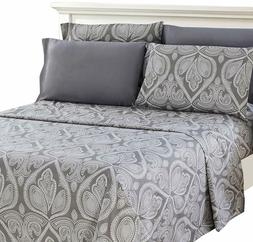 6 Piece Paisley Printed Deep Pocket Bed Sheet Set - 8 Beauti