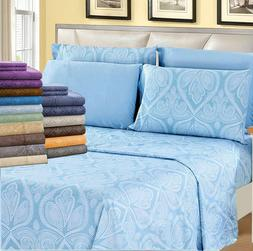 1800 Count 6 Piece Egyptian Comfort Hotel Luxury Bed Sheets