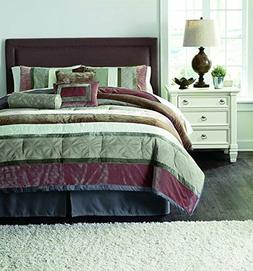 7 piece Signature Design by Ashley Jasie Comforter Set, Quee