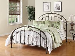 Dorel Living Queen Metal Bed, Antique Pewter