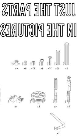 IKEA MALM BED FRAME REPLACEMENT PARTS HARDWARE HIGH VERSION