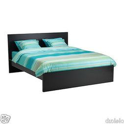 IKEA MALM Queen High Bed Frame with Slatted Bed Base, Black