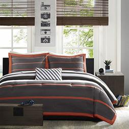 Mi-Zone Ashton Full/Queen Kids Bedding Sets for Boys - Orang