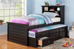 Poundex PDEX-F9219 Bed, Black