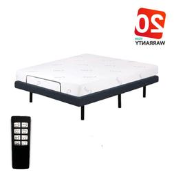"Queen Size Electric Bed Frame Adjustable Base w/ 8"" Gel Memo"