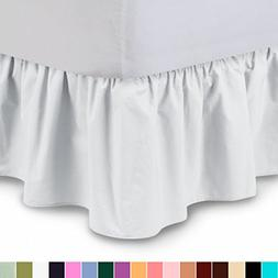 Ruffled Bedskirt  18 Inch Bed Skirt with Platform, Wrinkle a