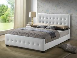 Glory Furniture White - Queen Size - Modern Headboard Tufted