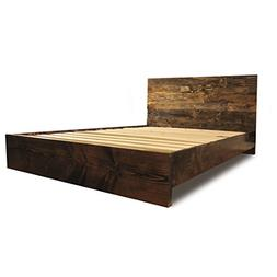 Wooden Platform Bed Frame and Headboard/Modern and Contempor