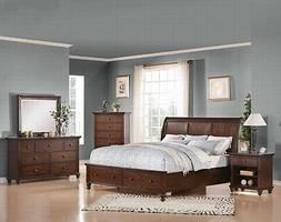 Acme Furniture Aceline Queen Sleigh 6 Piece Bed Set with Sto