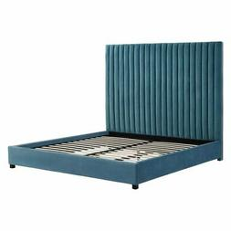TOV Furniture Arabelle Velvet Upholstered Low Profile Bed