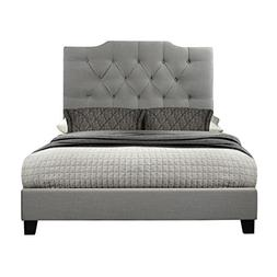 Ash Saddle Back Button Tufted Queen All-in-One Upholstered B