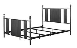 DHP Athena Metal Bed Frame with Headboard and Footboard, Que