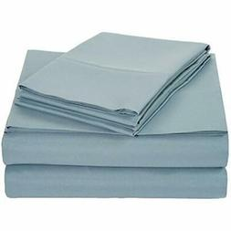 Basics Microfiber Bed Sheet Set - Queen, Spa Blue Home &amp