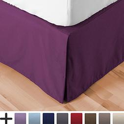 Bare Home Bed Skirt Double Brushed Premium Microfiber, 15-In