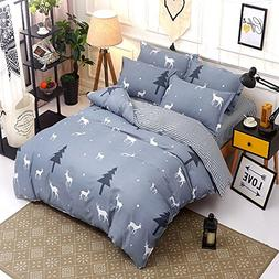 Bedding Duvet Cover Sets 3-pieces Full/Queen Size Microfiber