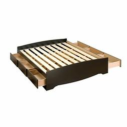 Black Queen Platform Storage Bed  By Prepac