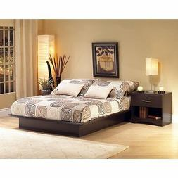 canyon platform bed set espresso full