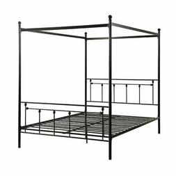 Homelegance 1761-1 Chelone Metal Canopy Queen Bed, Black