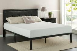 cherie faux leather classic platform bed frame