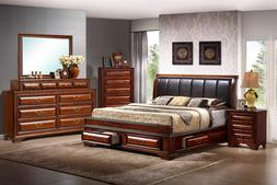 Classic Storage Bedroom Set Queen King or Cal King Platform