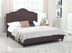 cloth brown linen tall headboard