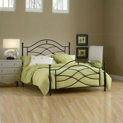 Cole Bed in Black Twinkle - Size: Queen