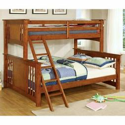 Furniture of America Columbia Twin XL Over Queen Bunk Bed