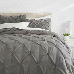 Comforter Sets Basics Pinch Pleat - Full/Queen, Dark Grey Ho