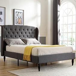 Classic Brands DeCoro Coventry Upholstered Platform Bed | He