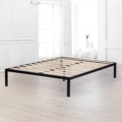 Bed Frame Metal Platform Bed Frame Queen Size Steel Wood Sla