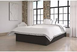 DHP Maven Platform Bed With Upholstered Faux Leather And Woo