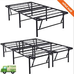 """Easy To Store - 18"""" High Profile Foldable Steel Bed Frame"""