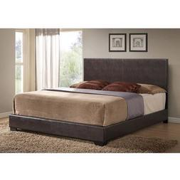 Faux Leather Full Queen King Size Upholstered Bed Frame Head