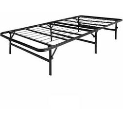 Foldable Metal Platform Bed Frame and Mattress Foundation by