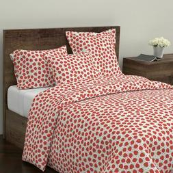 Fruit Red Berries Strawberry Nursery Home Kitchen Sateen Duv